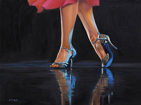 Tango Feet Blue by Loretta McNair