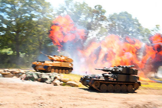 Tank battle by Christopher Rowlands