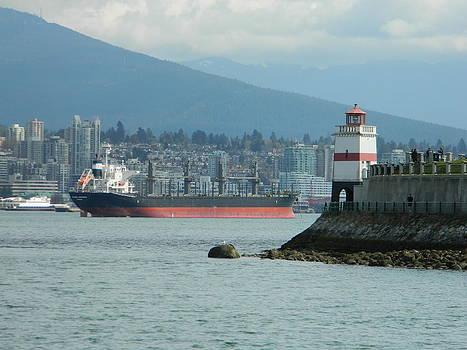 Nicki Bennett - Tanker Passing Brockton Point