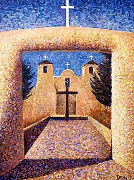Taos Church by Deliara Yesieva