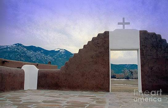Taos Pueblo Adobe Mission Gate by Gerald MacLennon