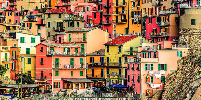 Tapestry Manarola Cinque Terre by Paul James