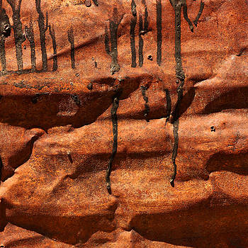 Art Block Collections - Tar Drips on Rust