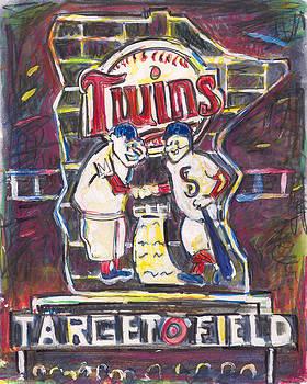 Target Field at Night by Matt Gaudian