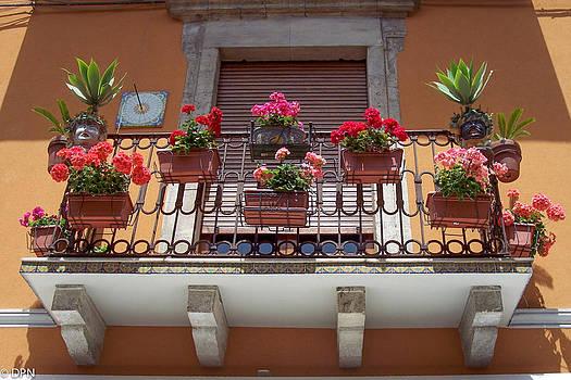 Taromina Balcony 1 by David Nichols