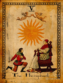 Tarot Card The Hierophant by Cinema Photography