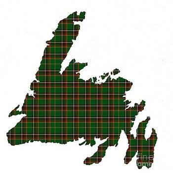Barbara Griffin - Tartan Map of Newfoundland Small Plaid