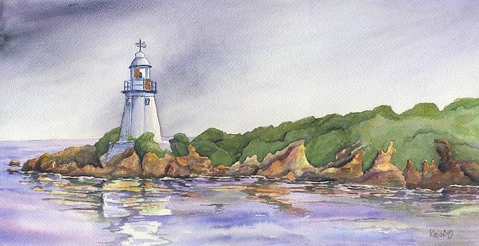 Tasmania Hells Gate Lighthouse by Oty Kocsis