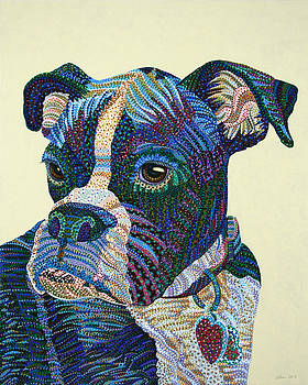 Tater - Portrait of a Boxer by Erika Pochybova