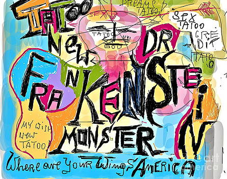 Tatoos new Doctor FRANKENSTAIN MONSTER - where are your wings America . Viewed 83 Times  by  Andrzej Goszcz