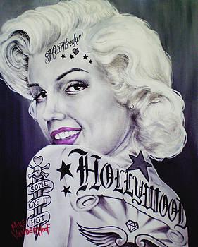 Tattooed Marilyn Monroe by Mike Vanderhoof