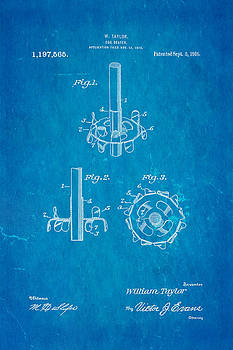 Ian Monk - Taylor Egg Beater Patent Art 1916 Blueprint