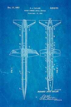 Ian Monk - Taylor Rocket Engine Patent Art 1957 Blueprint