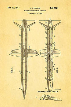 Ian Monk - Taylor Rocket Engine Patent Art 1957