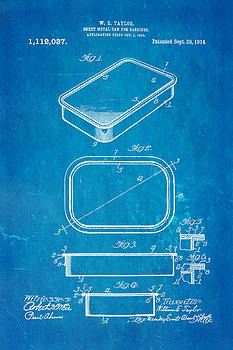 Ian Monk - Taylor Sardine Can Patent Art 1914 Blueprint