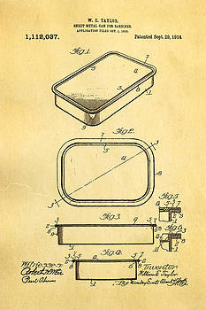 Ian Monk - Taylor Sardine Can Patent Art 1914