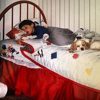 #tbt #maggie #sleepy #mymomhidmyblankey by Ben Tesler