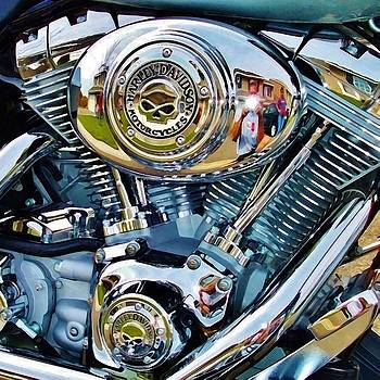 V-Twin blue by David Manlove