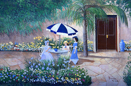 Linda Rae Cuthbertson - Tea At Southwinds Wall Mural Lake Placid Florida