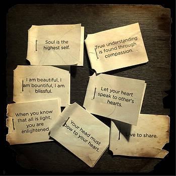 Tea Bag Words of Wisdom by Patricia Januszkiewicz