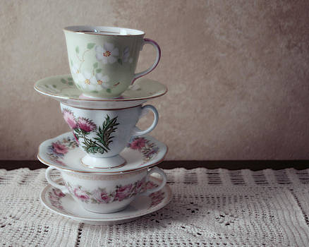 Tea Cups by Kelly Rockett-Safford