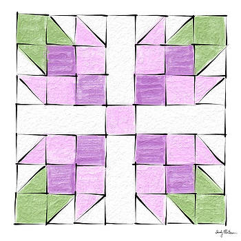 Tea Rose Quilt Block by Sandy MacGowan
