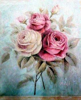 Tea Roses by Anke Wheeler