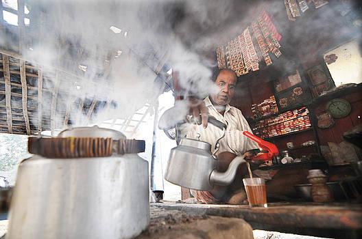 Tea seller by Money Sharma