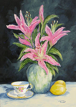 Tea with Lilies by Torrie Smiley