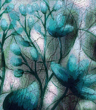 Teal Flowers by Terry Atkins