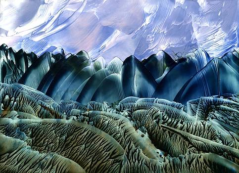 Teal Landscape by Dallas  Manicom