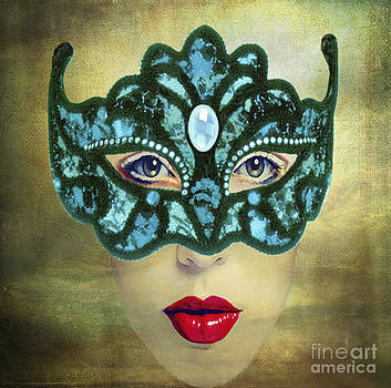Teal Mask by Maureen Tillman