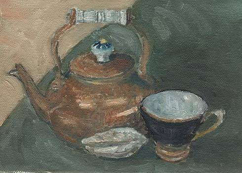 Sandra Lytch - Teapot with Cup and Shell
