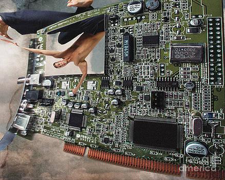 Ginette Callaway - Circuit Board Electronic Art Technobat Abstract