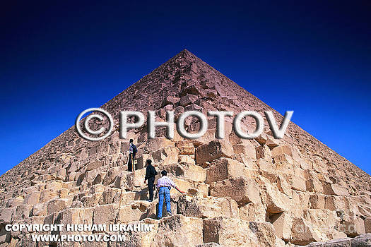 Teens Climbing Great Pyramid of Cheops - Egypt - Limited Edition by Hisham Ibrahim