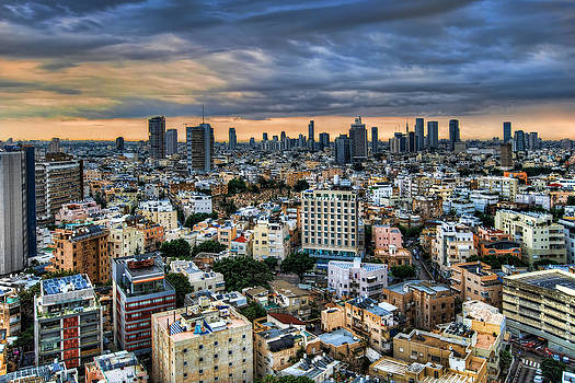 Tel Aviv skyline winter time by Ron Shoshani
