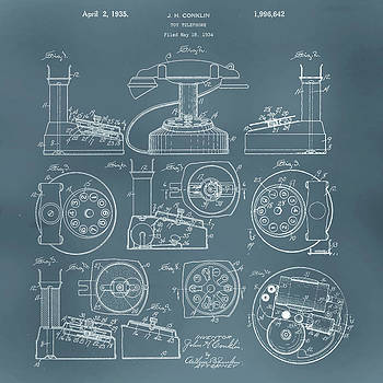 Telephone Patent by Gina Dsgn
