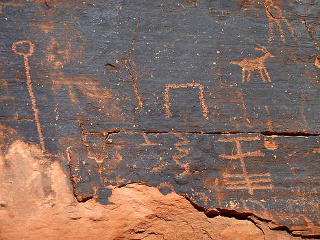 Tell Me a Story Petroglyphs by Merridy Jeffery