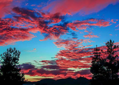 Temecula Fire Sky Sunset by Robert  Aycock