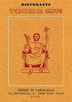 Tempio Di Giove Menu Cover by Clif Jackson