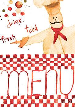Template for menu  by Regina Jershova
