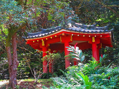 Temple in Garden by Elaine Haakenson