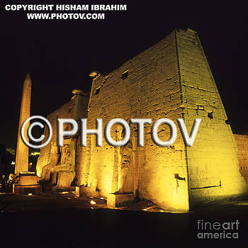 Temple of Luxor Illuminated at Night - Luxor - Egypt by Hisham Ibrahim