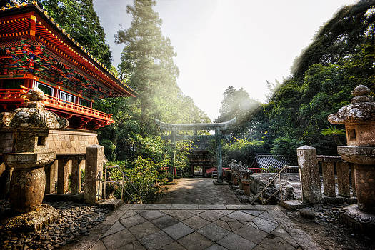 Temple Pathway by John Swartz