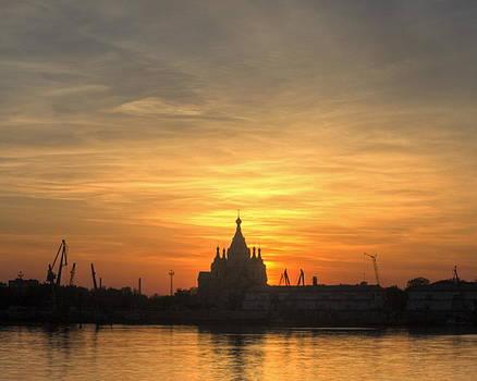 Temple Silhouette by Viacheslav Savitskiy