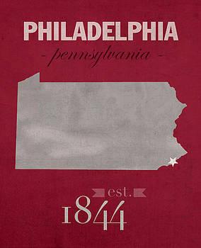 Design Turnpike - Temple University Owls Philadelphia Pennsylvania College Town State Map Poster Series No 103