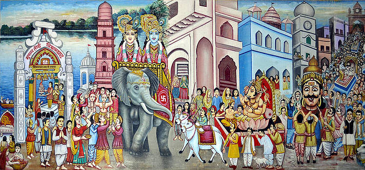 Bliss Of Art - Temple Wall Painting