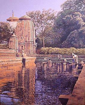 Templo con estanque by Victor  Candela