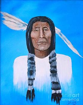 Chief Wolf Robe by Donna Dixon