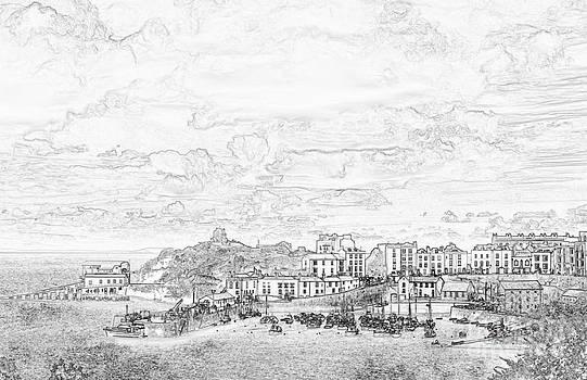 Steve Purnell - Tenby Harbor Pencil Sketch 1